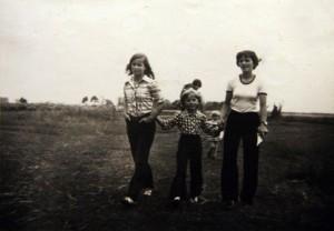 Z ciocią Tereską i kuzynką Martą.